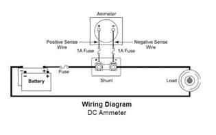 dc ammeter wiring diagram