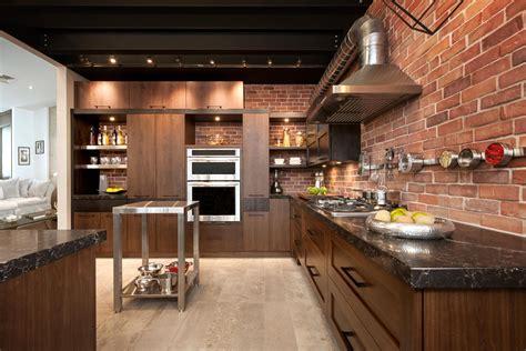 Cuisine Style Loft loft cuisine bois noyer fr 234 ne quartz