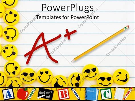 templates powerpoint smile powerpoint template lots of yellow smiley faces on a