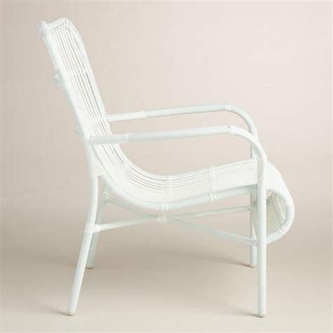 White Wicker Armchair by White All Weather Wicker Hanalei Armchair Set Of 2 World Market