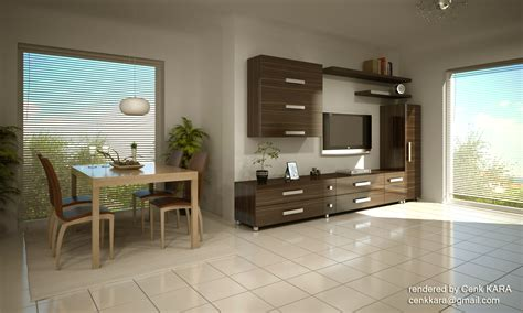 Interior Design Of Living Room - kitchen amp living room rendering by cenk kara at coroflot com