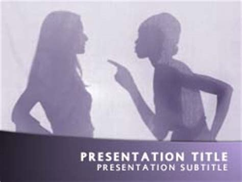 templates powerpoint bullying royalty free abuse powerpoint template in purple