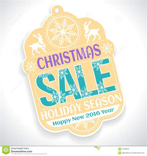 new year sale vector sale season and happy new 2016 stock
