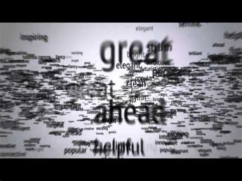 lyric after effects template after effects template flying through words logo reveal