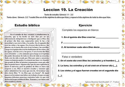 imagenes biblicas de la creacion lecci 243 n 19 la creaci 243 n iglesia de ni 241 os