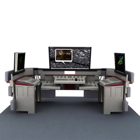 futuristic desk 3d futuristic desk model