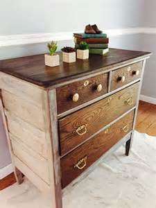 White Bedroom Furniture With Oak Tops by Best 25 Stained Dresser Ideas On Wood