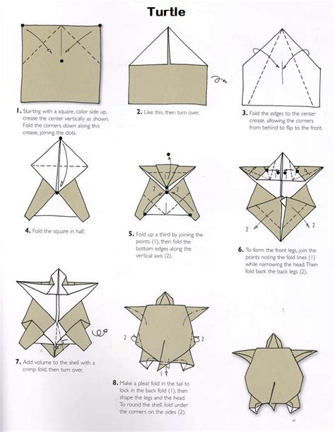 origami tutorial turtle make it a tent https www etsy com listing 190932440
