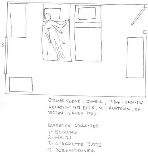 Crime Scene Report Crime Sketch Template