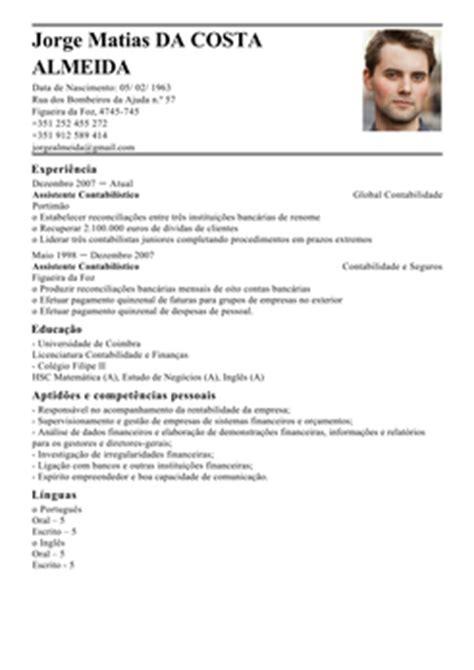 Modelo Curriculum Vitae De Un Contador Modelo De Curriculum Contabilista Exemplo De Cv Contador Livecareer