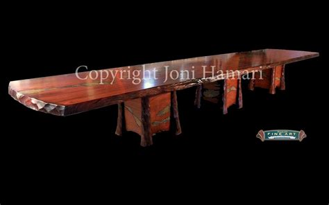 Hand Crafted Live Edge Wood Slab Giant Sequoia Conference Live Edge Conference Table