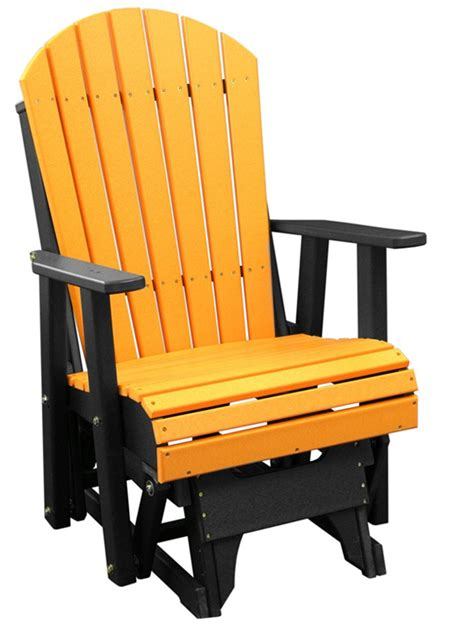 Backyard Creations Deluxe Adirondack Chair Deluxe Poly 2 Adirondack Glider