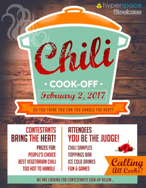 chili cook off flyer template image collections