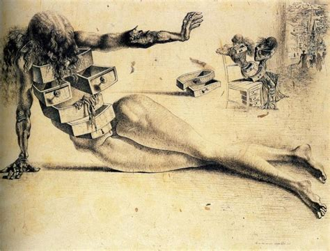 Salvador Dali With Drawers by Document Moved