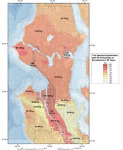 seattle earthquake map seismic hazards