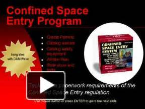confined space entry program template ppt confined space entry program powerpoint presentation