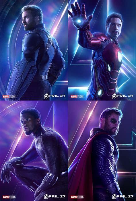 Avanger Besar simak kerennya iron captain america cs di poster karakter infinity war kabar