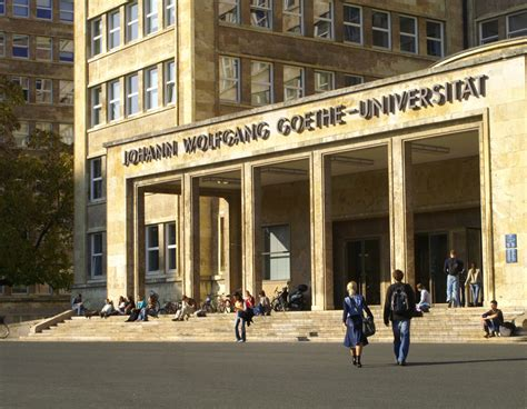 Goethe Uni Frankfurt Bewerbung Psychologie Goethe Universit 228 T Standorte Der Goethe Universit 228 T