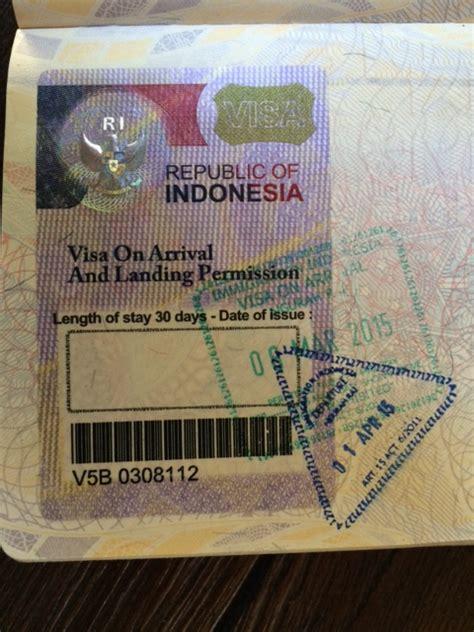 indonesian visa  arrival extendable   extendable