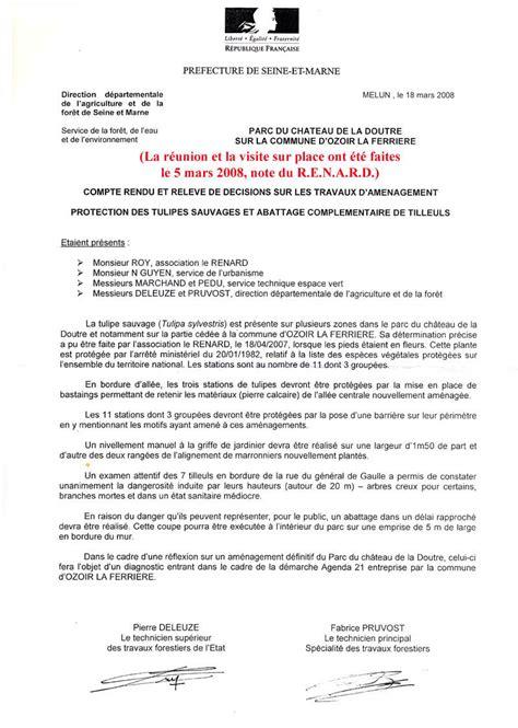 Modèles De Lettre De Compte Rendu Le Parc Du Ch 226 Teau De La Doutre 224 Ozoir La Ferri 232 Re