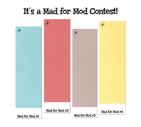 paint colors for mid century modern interior mad for mod contest atomic color names and win