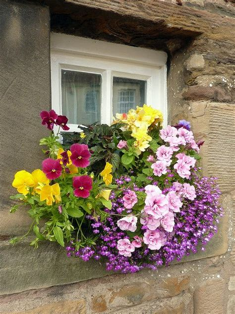 windowsill planter ideas home decorations insight pretty and colorful flowers on the windowsill quot diy home