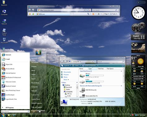 download themes vista windows vista transparent theme free download programs