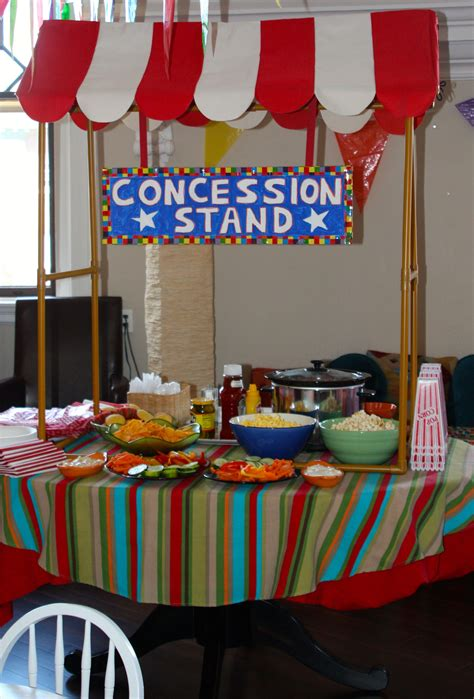carnival c themes circus party concession stand food circus party circus
