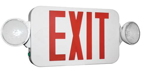 exit emergency light combo emergency exit signs combos emergency exit lights