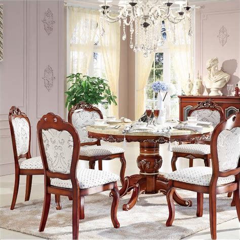 italian dining room set style italian dining table round solid wood italy style luxury dining table set with6 chairs