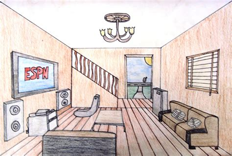 1 Point Perspective Room by 1 One Point Perspective Room