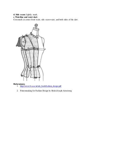patternmaking for fashion design helen joseph armstrong pdf bdft ii d pm unit i draping