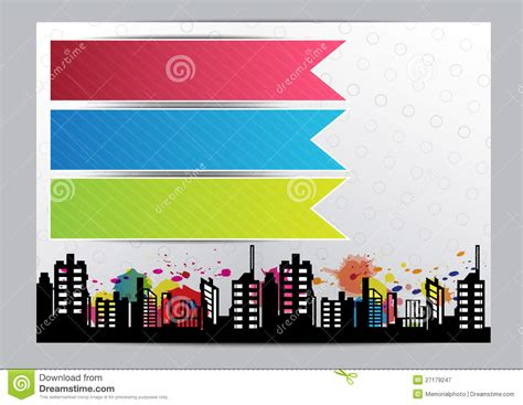 design online free advertise layout brochure design stock vector image