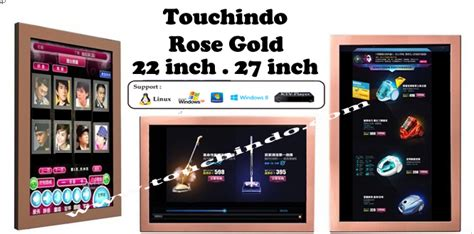 Monitor Touchscreen 22 Inch Rosegold Touchindo touchindo monitor toucshcreen gold