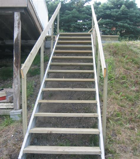outside stairs exterior stair stringers by fast stairs com