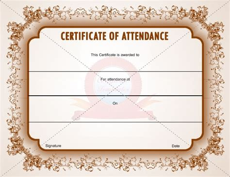 template for certificate of attendance 17 best images about certification of attendance templates