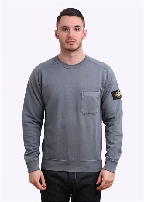 Sweater Cotton Fleece Island Cotton Fleece Pocket Sweater Grey