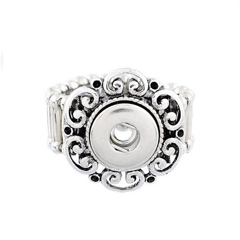 Snap Mini Button Ring 2015 fashion tibetan silver snap button jewelry
