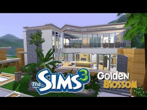 home design career sims 3 the sims 3 house designs golden blossom youtube