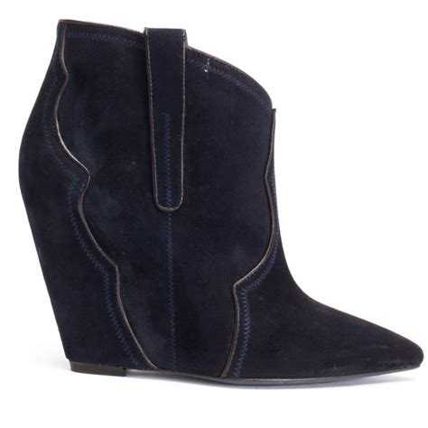 ash janet midnight wedge boots