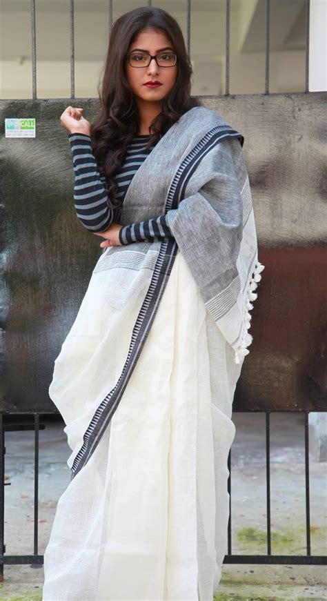Blouse Starburks White Or Black black and white linen saree mulberry s pinned by sujayita devaya designs indian