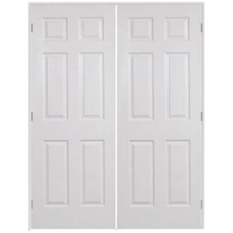 prehung interior french doors home depot steves sons 48 in x 80 in 6 panel textured hollow core