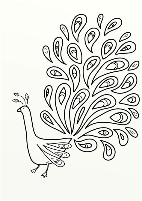 Free Printable Peacock Pictures