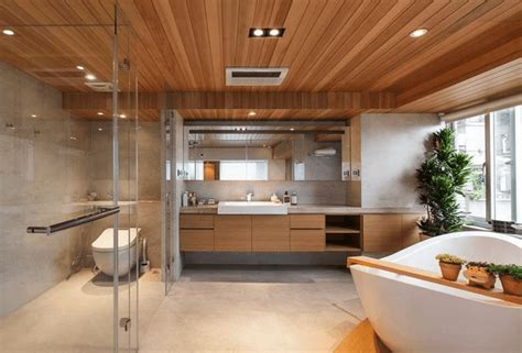 bathroom wood ceiling ideas 20 wooden ceilings bathroom ideas housely