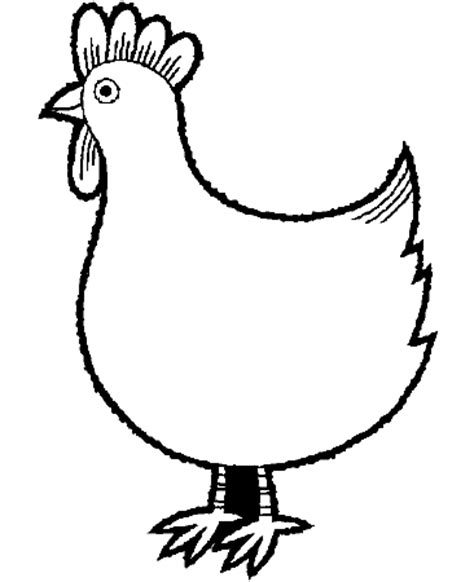 chicken face coloring page chicken pictures to colour in