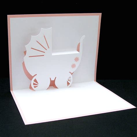pop up card baby template carriage for a baby pop up card a photo on flickriver