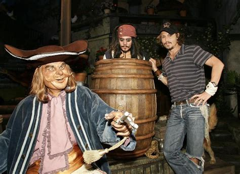 johnny depp on pirates of the caribbean disneyland ride when did the pirates of the caribbean ride open at