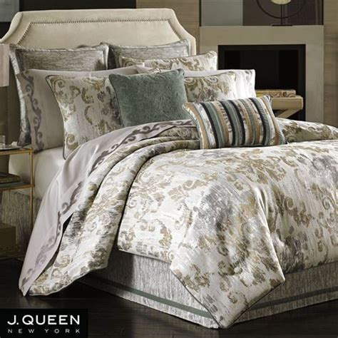 queen comforters seville damask scroll comforter bedding by j queen new york