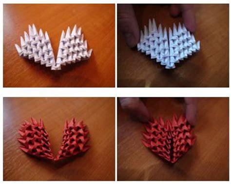 Origami Broken - 3d origami broken hearts by werewolffang on deviantart