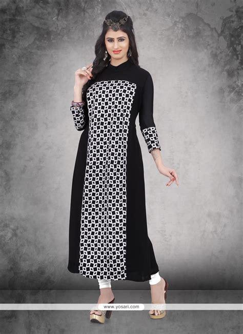 black and white kurti patterns buy stylish weight less black party wear kurti party